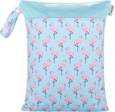 Wetbag – Flamingo   HappyBear   Opbergtas luiers   Droge en natte spullen