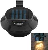 0.5W outdoor Mini waterdichte zonne-aangedreven licht  3 SMD 3528 LED Warm wit licht hek / tuin / Water Lamp