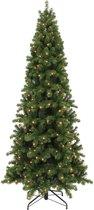 Triumph Tree kunstkerstboom met led pencil pine maat in cm: 260 x 117 donkergroen 408 lampjes met warmwit led