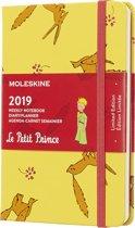 Moleskine agenda 2019 - 12 maanden - Wekelijks  - Petit prince geel - Pocket - Hard cover