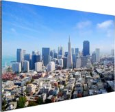 Luchtfoto van San Fransisco Aluminium 90x60 cm - Foto print op Aluminium (metaal wanddecoratie)