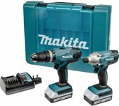 Makita TD127DZ 18V Accuslagschroevendraaier & HP457DZ 18V Accuboormachine Incl. 2x 1.3Ah Accu s