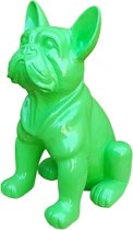 Beeld Franse Bulldog groen 40 cm.