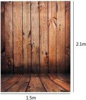 2.1 x 1.5m Houten Muurvloer Thema Scène Vinyl Studio Fotografie Achtergrond Foto Achtergrond
