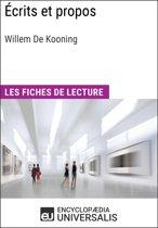 Écrits et propos de Willem De Kooning (Les Fiches de lecture d'Universalis)