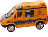 Jonotoys Politieauto 8,5 Cm Geel Met Pullback