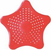 Gootsteen zeef van Versteeg® - zeester - milieuvriendelijk - rood