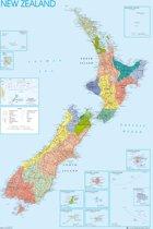 Poster New Zealand kaart (61x91.5cm)