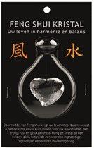 Feng shui raamhanger hart - Transparant kristal