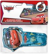Stor Papieren Cupcake Toppers Cars pk/24