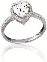Classics&More - Zilveren Ring Druppel met zirkonia