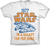 Merchandising STAR WARS - T-Shirt Star Wars 1977 - White (S)