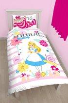 Disney Alice in Wonderland This Way - Dekbedovertrek - Eenpersoons - 140 x 200 cm - Multi