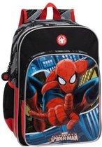 Spiderman blue city A4 schoolrugzak