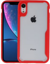 Focus Transparant Hard Cases voor iPhone XR Rood