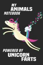 My Animals Notebook Powered By Unicorn Farts