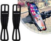 Telefoonhouder voor op de fiets - Houder telefoon Fiets - Universeel - 2-pack