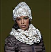 Casual grof gebreide sjaal naturel