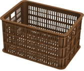 Basil Crate Large Fietskrat - 50 Liter - Saddle brown