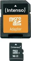 Intenso 3403470 flashgeheugen 16 GB MicroSDHC Klasse 4