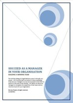 Succeed as a Manager in your Organisation: Building a Winning Team