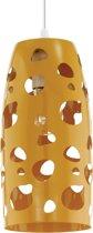 EGLO Manzana - Hanglamp - 1 Lichts - Ø135mm. - Wit - Oranje