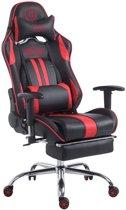 Clp Limit xl Racing Bureaustoel - Kunstleer - - Zwart/rood - Met voetsteun