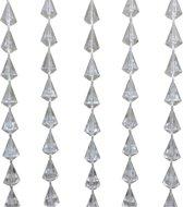 Deurgordijn Diamant - 90x200 cm - Blank/Doorzichtig