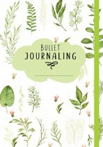 Bullet Journaling (Green/Leaves)  + 16 Bullet Journal Stencils verpakt in een Handige A5 Zipperbag