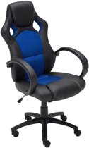 Clp Gaming-stoel - Racing bureaustoel FIRE - Sport seat Racing design - blauw