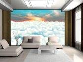 Fotobehang Wolken | Blauw | 104x70,5cm