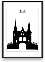 Sneek stadposter - Zwart-wit