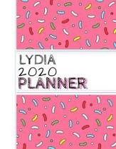 Lydia: : 2020 Personalized Planner: One page per week: Pink sprinkle design