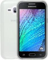 Ultra Slim  Dunne 0,3 mm  Siliconen hoesje voor Galaxy J1 - Transparant Doorzichtig