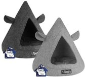 Let's Sleep Pet Cave TeePee - Kattenmand - 50 x 45 cm
