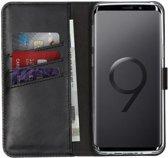 Selencia Echt Lederen Booktype Samsung Galaxy S9 hoesje - Zwart