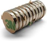 Super sterke zelfklevende 3M magneten - Rond - 15 x 3 mm - 10 Stuks - Kleef Magneten