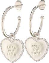 Lora di Lora Oorbellen 22 Copine. Unieke oorbellen met bedeltjes 925 Sterling Zilver 1.5 cm
