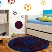 Vloerkleed Kinderkamer - Voetbal - Rood & Blauw