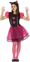 Poes/ kat kostuum voor meisjes - dierenpak - 128 (7-9 jaar)