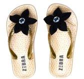Zebra Slippers Ladies goud maat 40/41