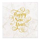Happy New Year Servetten 25x25cm 16 stuks