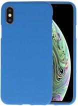 Navy Color TPU Hoesje voor iPhone XS / X