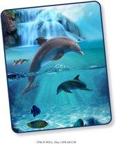 Elegante Plaid Dolfijn 130x160 - Prachtige Design - Heerlijk Zacht