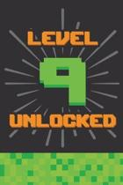 Level 9 Unlocked: Happy 9th Birthday 9 Years Old Gift For Gaming Boys & Girls