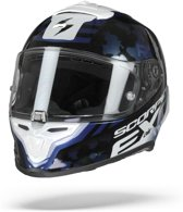 Scorpion Exo-R1 Air Ogi Zwart Blauw Wit Integraalhelm - Motorhelm - Maat M