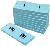 Nummerblokjes 1-1000 42 x 105 mm blauw