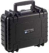 B&W Outdoor Case Type 1000/B zwart met GoPro 4 Inlay