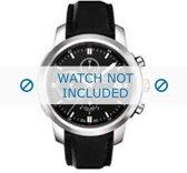 Horlogeband Tissot T014427 / T610027691 / T0144271605100 Leder Zwart 20mm