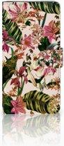Samsung Galaxy J4 Plus (2018) Uniek Boekhoesje Flowers
